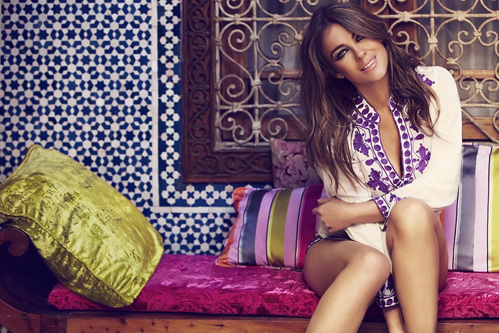 A photo of Elizabeth Hurley on holiday