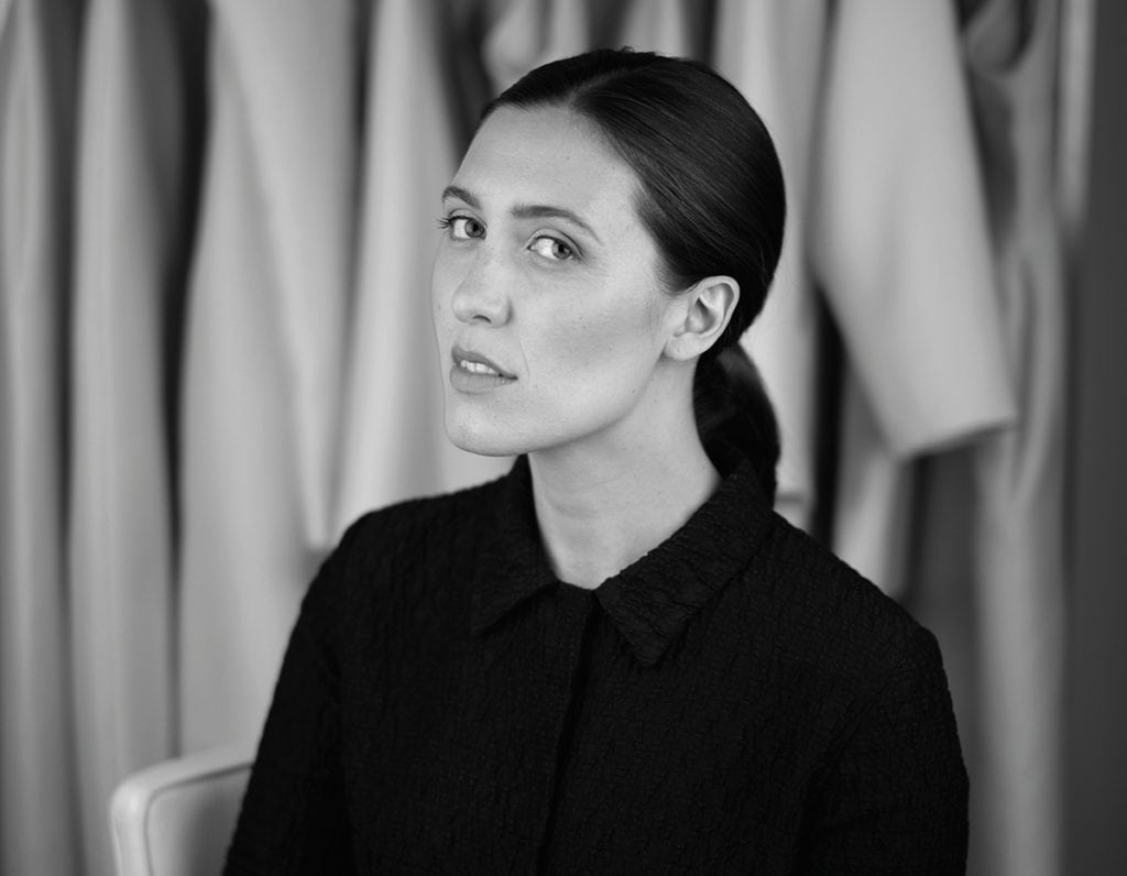 Emilia Wickstead the designer made famous for dressing The Duchess Of Cambridge Kate Middleton and Samatha Cameron