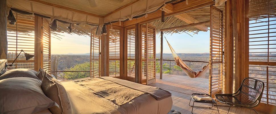 Safari in South Tanzania at the spectacular Jabali Ridge lodge Jabali Double Bedroom