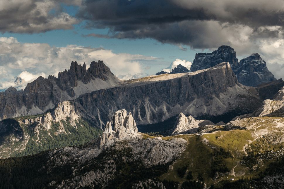 Panorama of the Col dei Bos in Italy