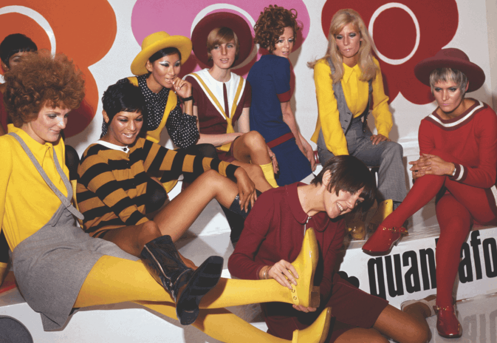 Mary Quant and models at the Quant Afoot footwear collection launch in 1967