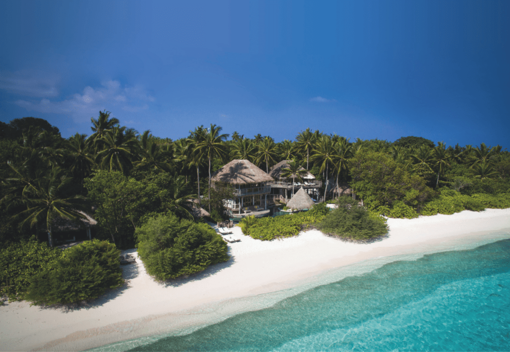 The jungle at Soneva Fushi in the Maldives