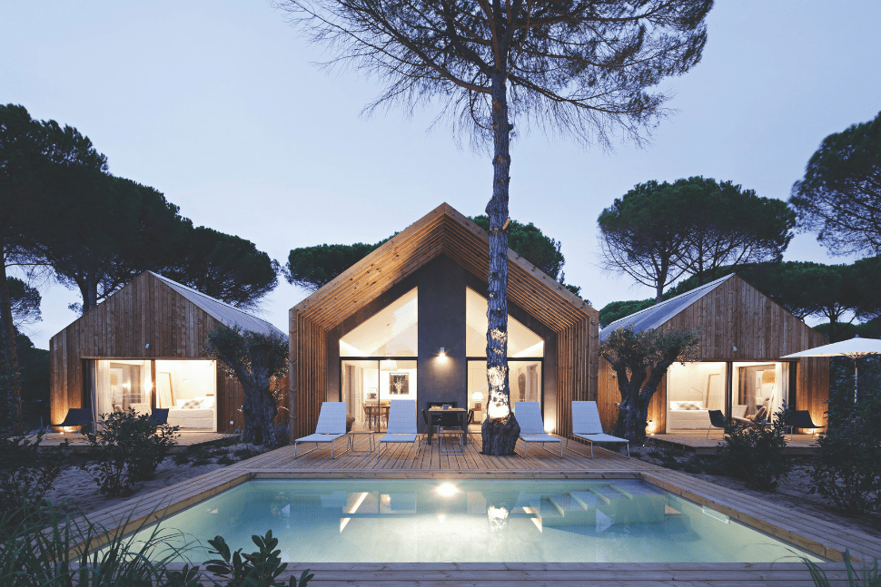 London's fashionable jet set share their favourite eco-retreats The rooms and pool at dusk at Sublime Comporta in Comporta Portugal