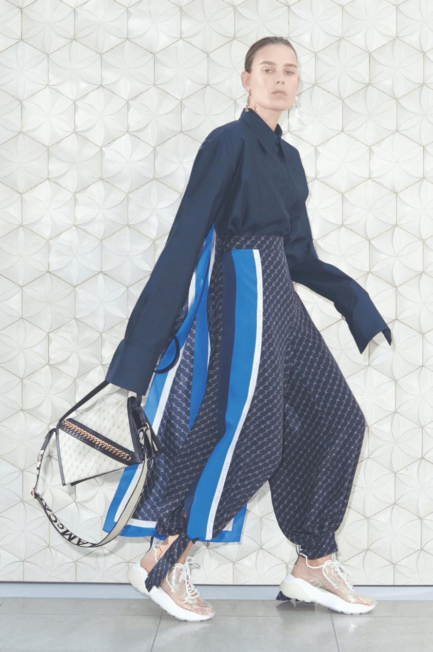 Model wears head-to-toe Stella McCartney SS19