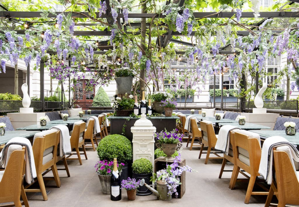 Nyetimber Secret Garden at Rosewood in Holborn London