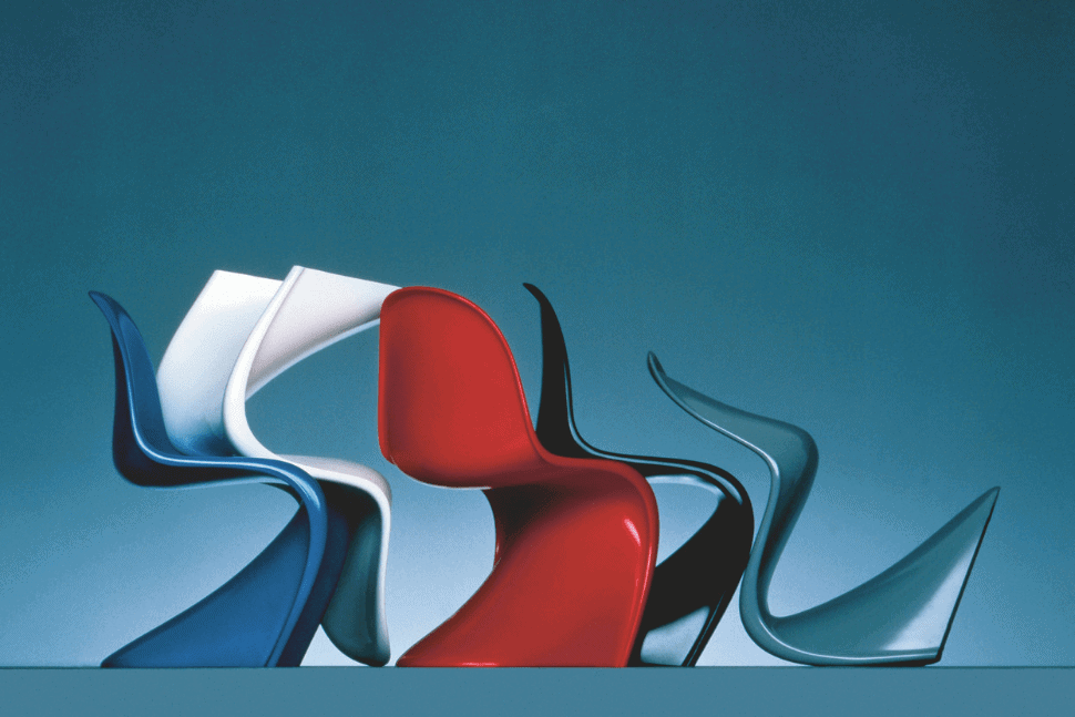 Panton chairs designed by Verner Panton 1