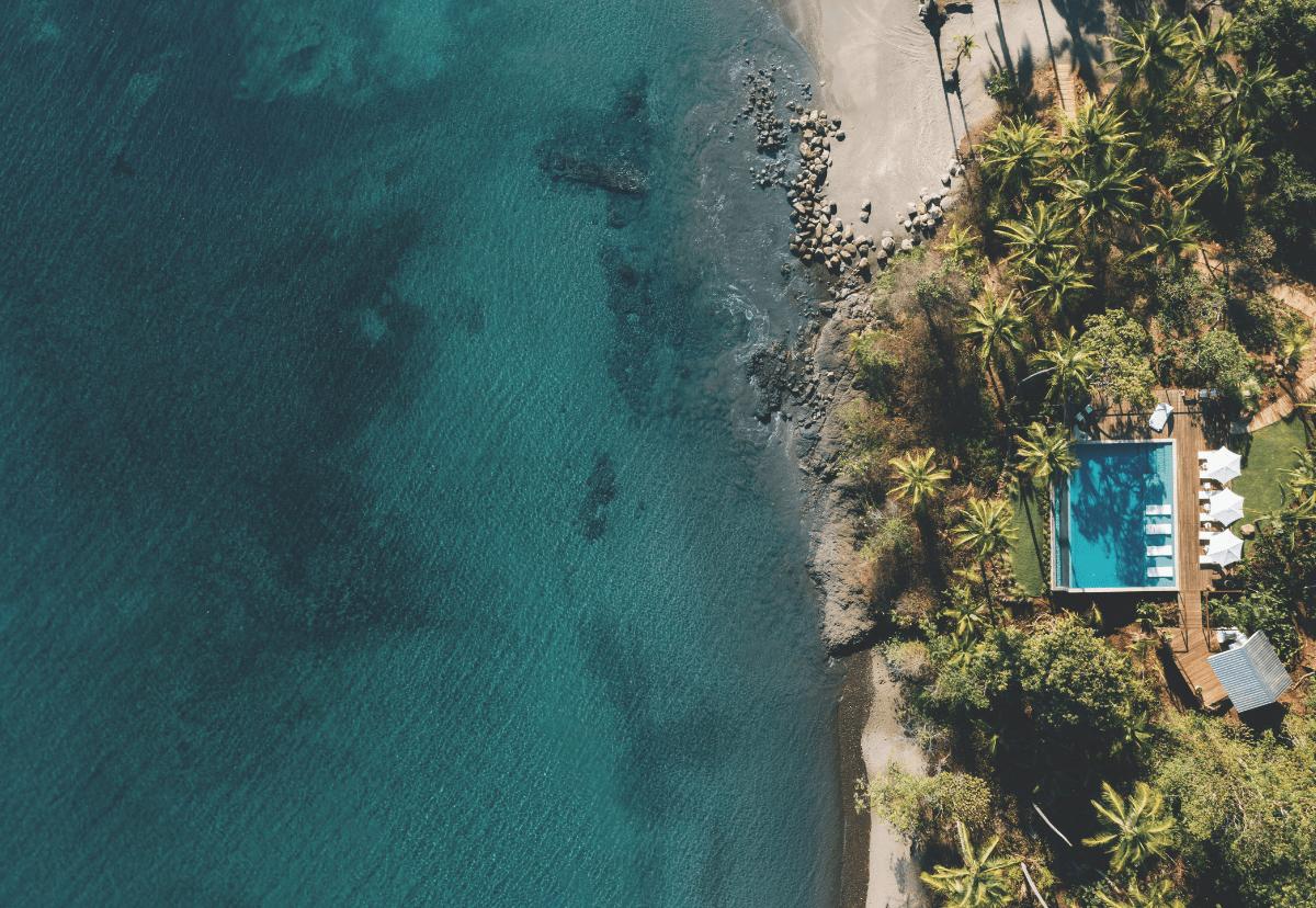 Aerial view of Islas Secas Panama
