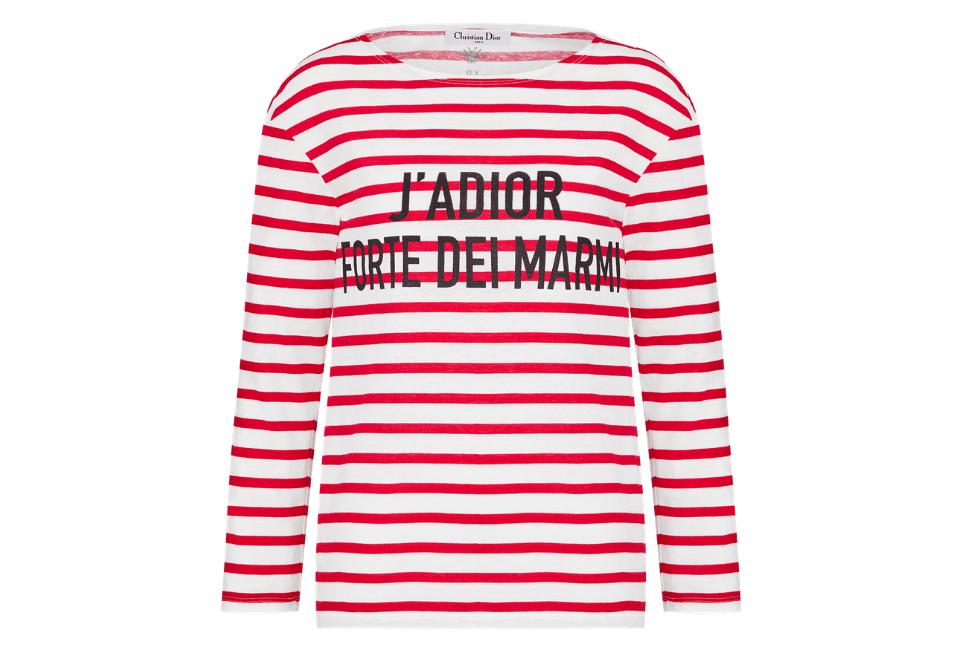 Dioriviera Forte dei Marmi striped cotton and linen T-shirt
