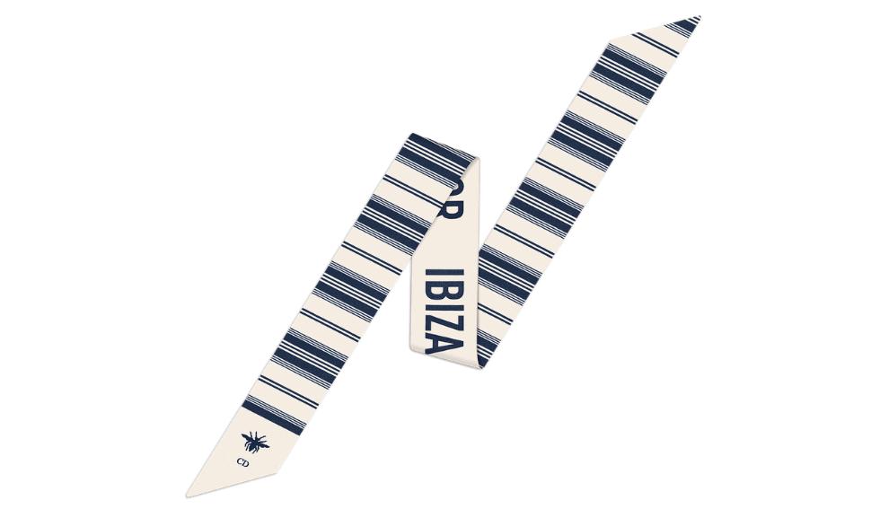 Dioriviera Ibiza blue bayadere mitzah scarf