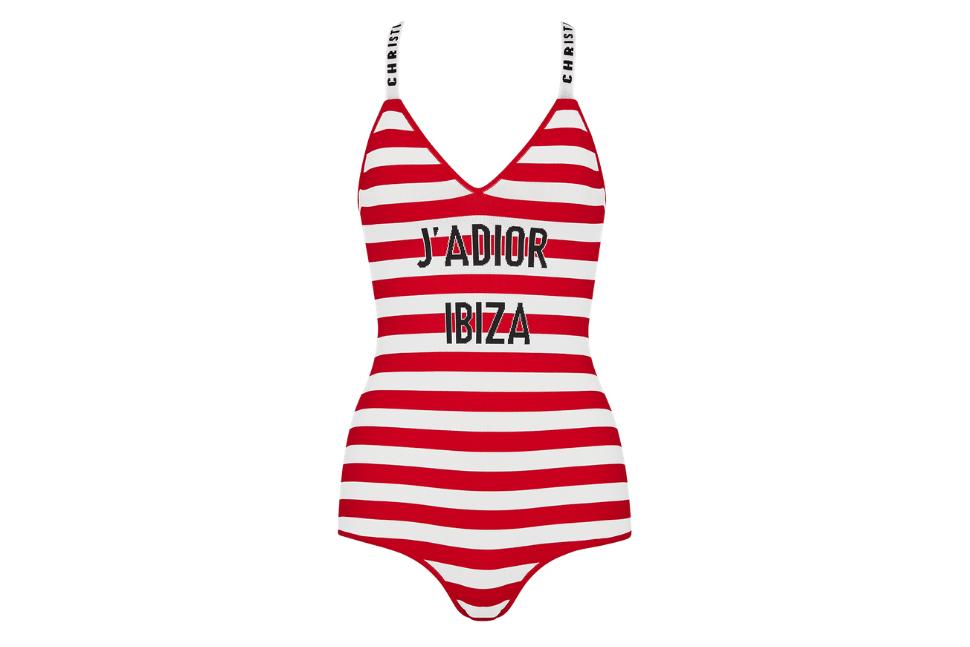 Dioriviera J'adior Ibiza striped viscose bodysuit