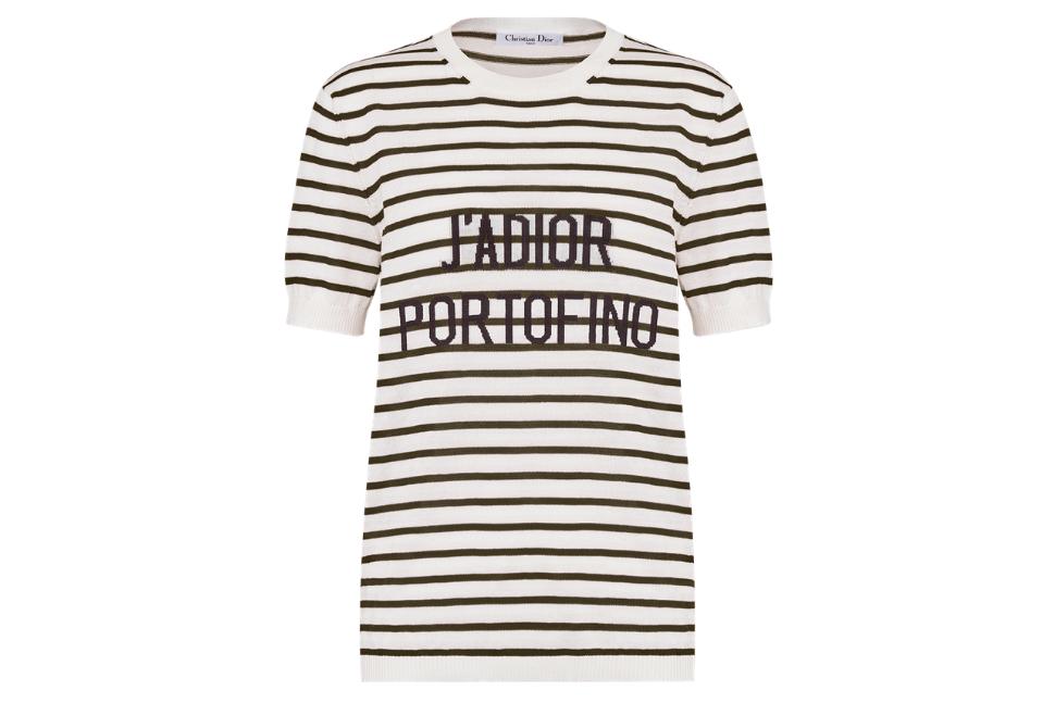 Dioriviera J'adior Portfofine cotton and silk short-sleeved sweater