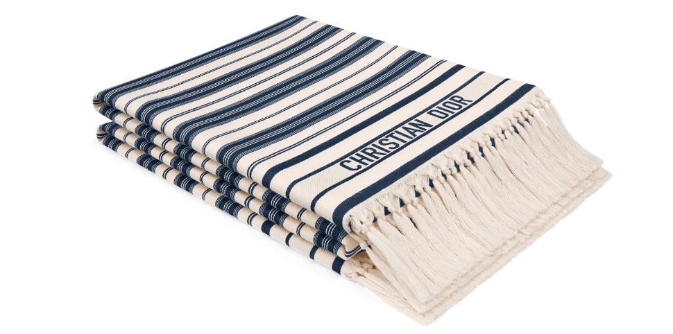 Dioriviera blue bayadere hammam towel
