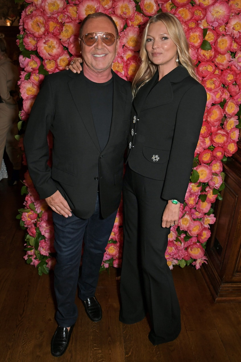 Michael Kors and Kate Moss at the opening of Michael Kors Collection boutique in London