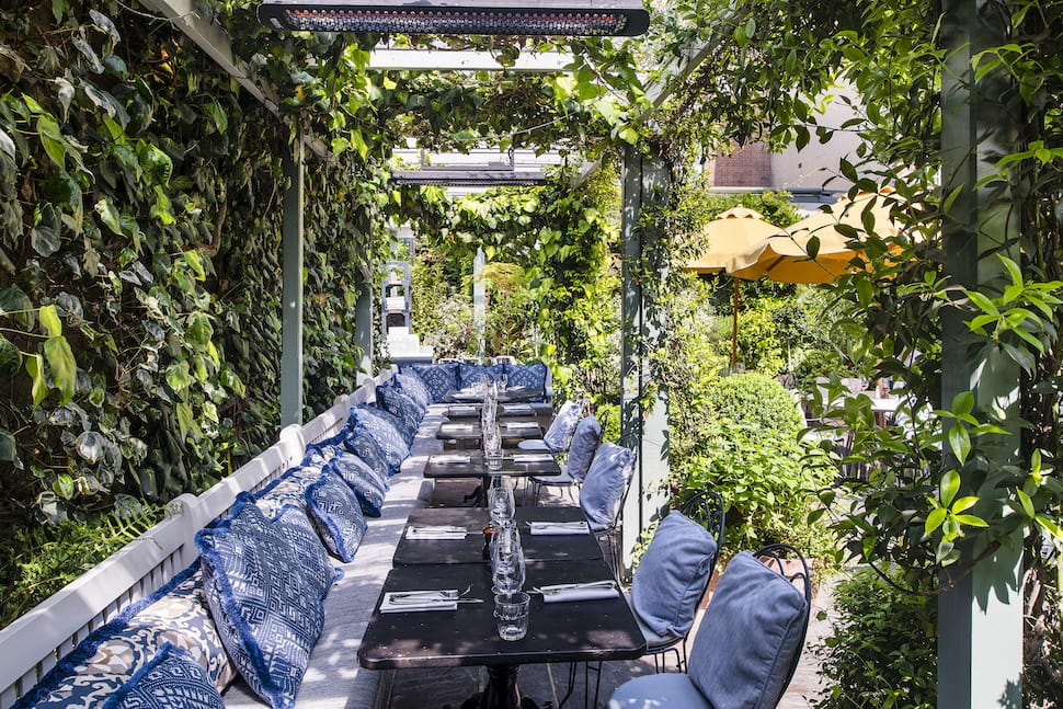 Outdoor seating at The Ivy Chelsea Garden