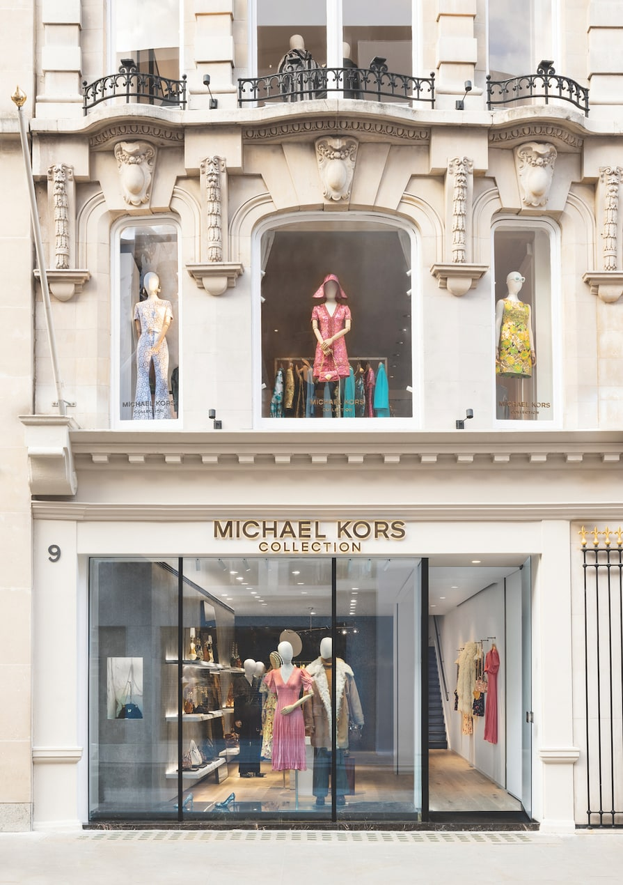 The exterior of the Michael Kors Collection boutique on Bond Street in London