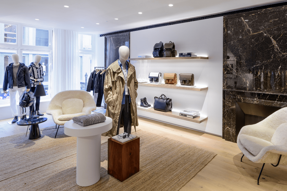 The menswear floor at the Michael Kors Collection boutique on Bond Street in London