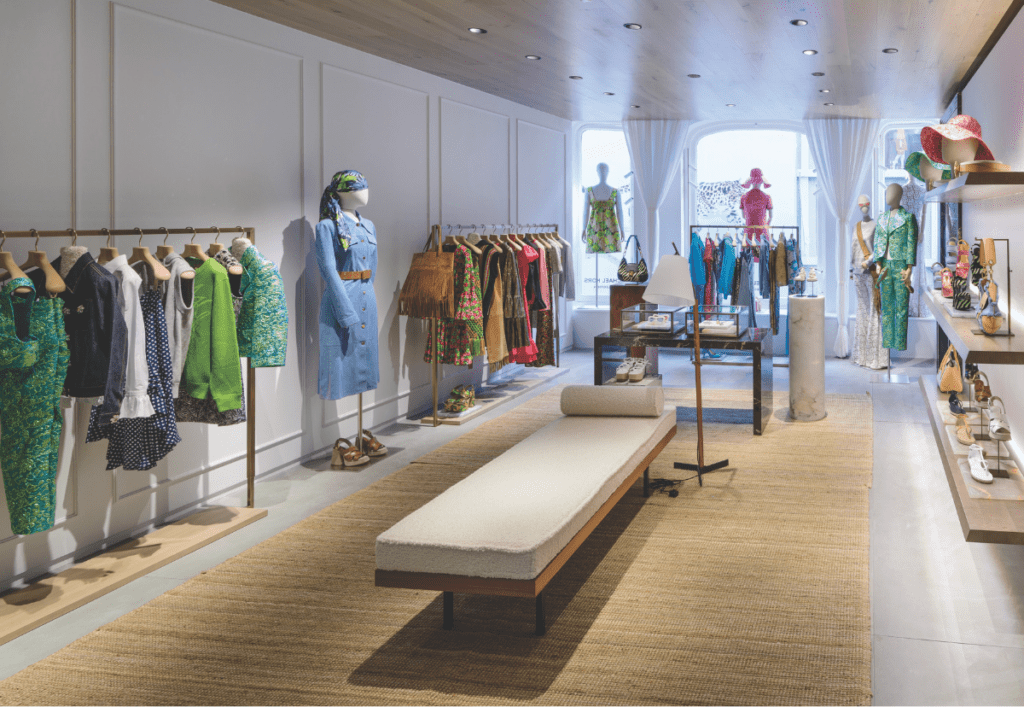 The womenswear floor inside the Michael Kors Collection boutique on Bond Street in London