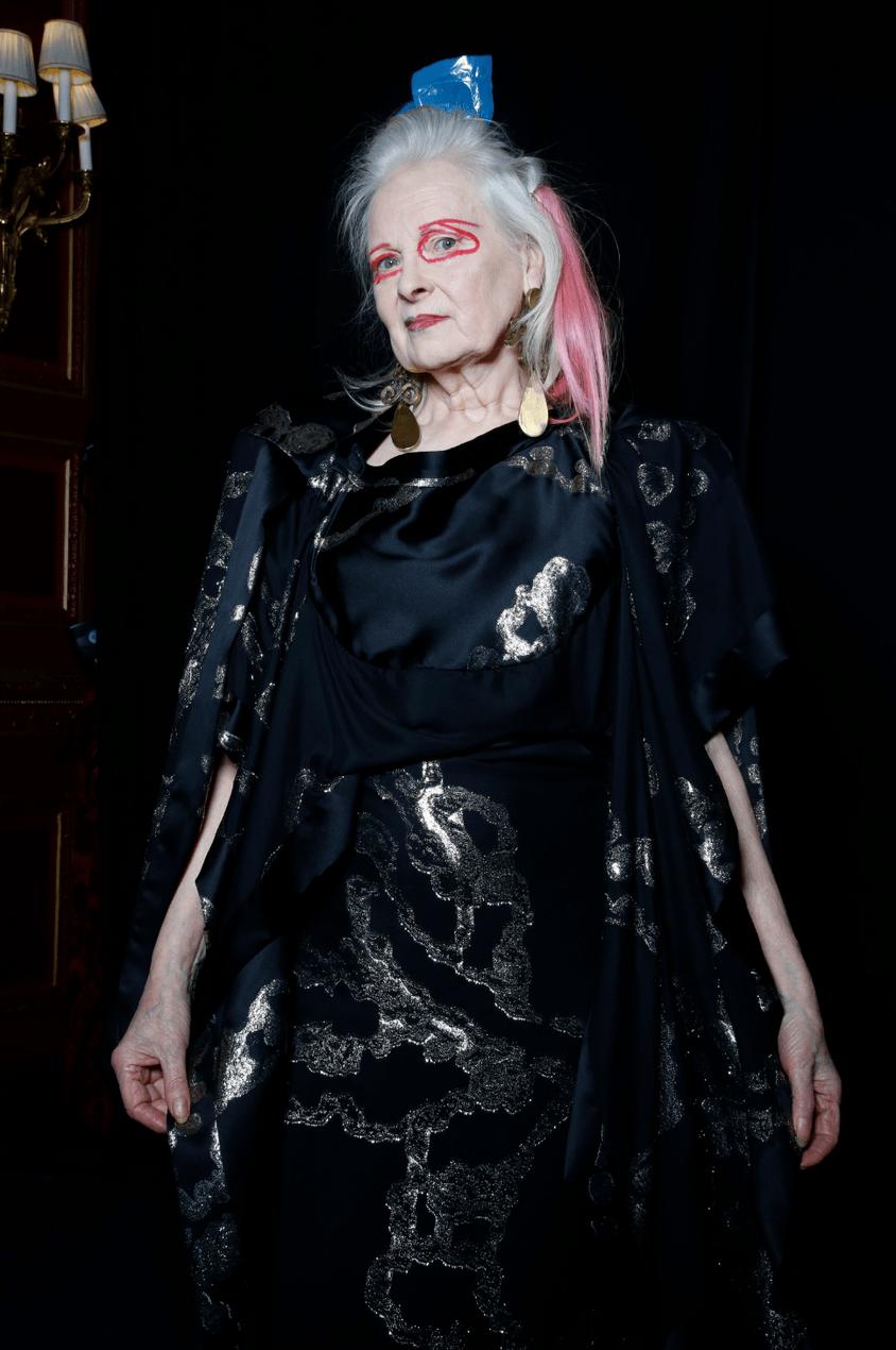 Vivienne Westwood backstage by Kamil Kustosz