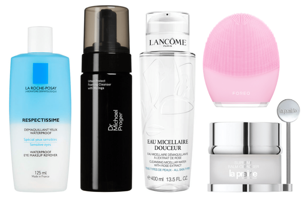Alessandra Steinherr double cleansing routine products