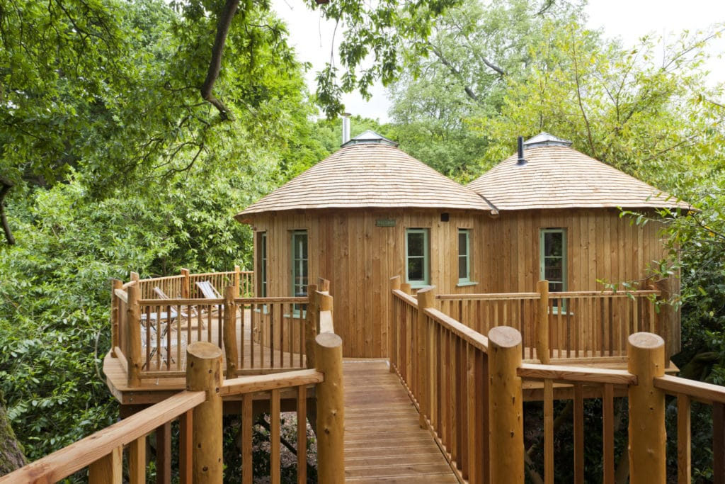 8 spectacular luxury treehouses across the UK to escape to harptree court treehouse exterior front cropped 8