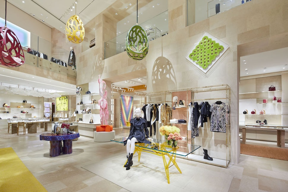 Inside the newly rennovated Louis Vuitton store on Bond Street