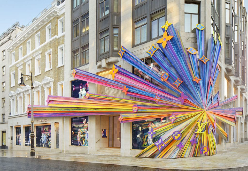 Louis Vuitton London flagship store on Bond Street