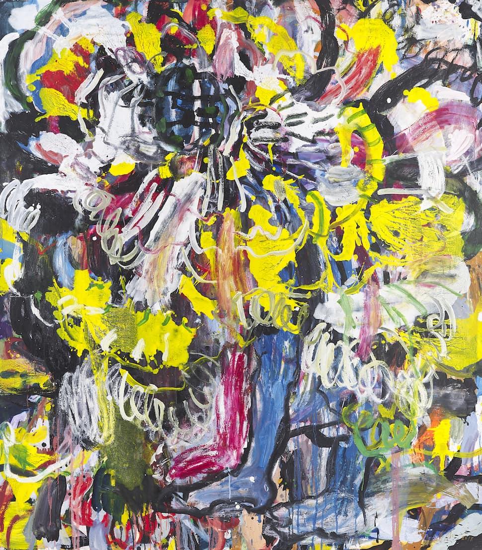 Misheck Masamvu Pinky Scratch, 2018, Oil on canvas