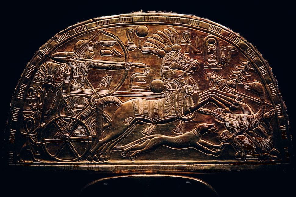 Tutankhamun exhibition fan