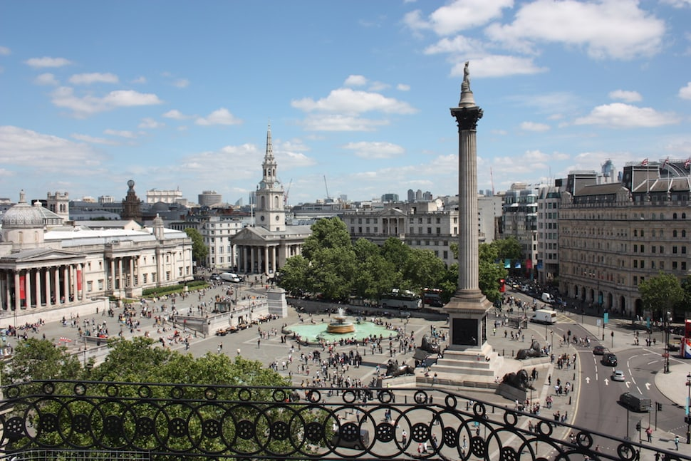 View from the Trafalgar St James's rooftop bar