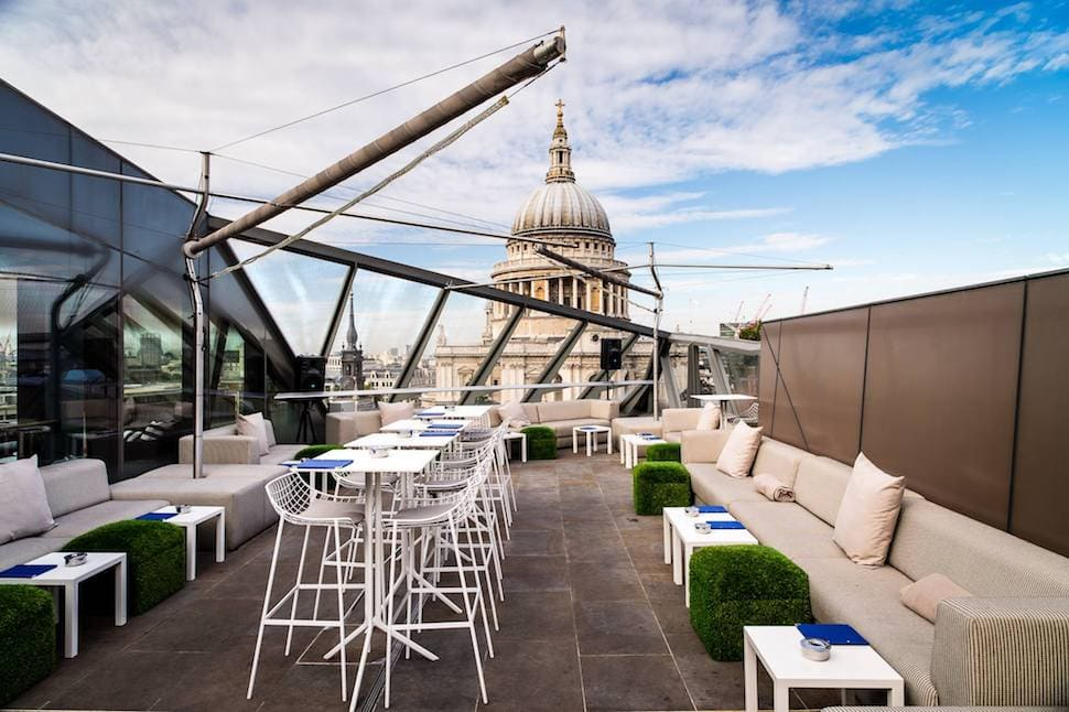 View of St Pauls from Madison rooftop terrace