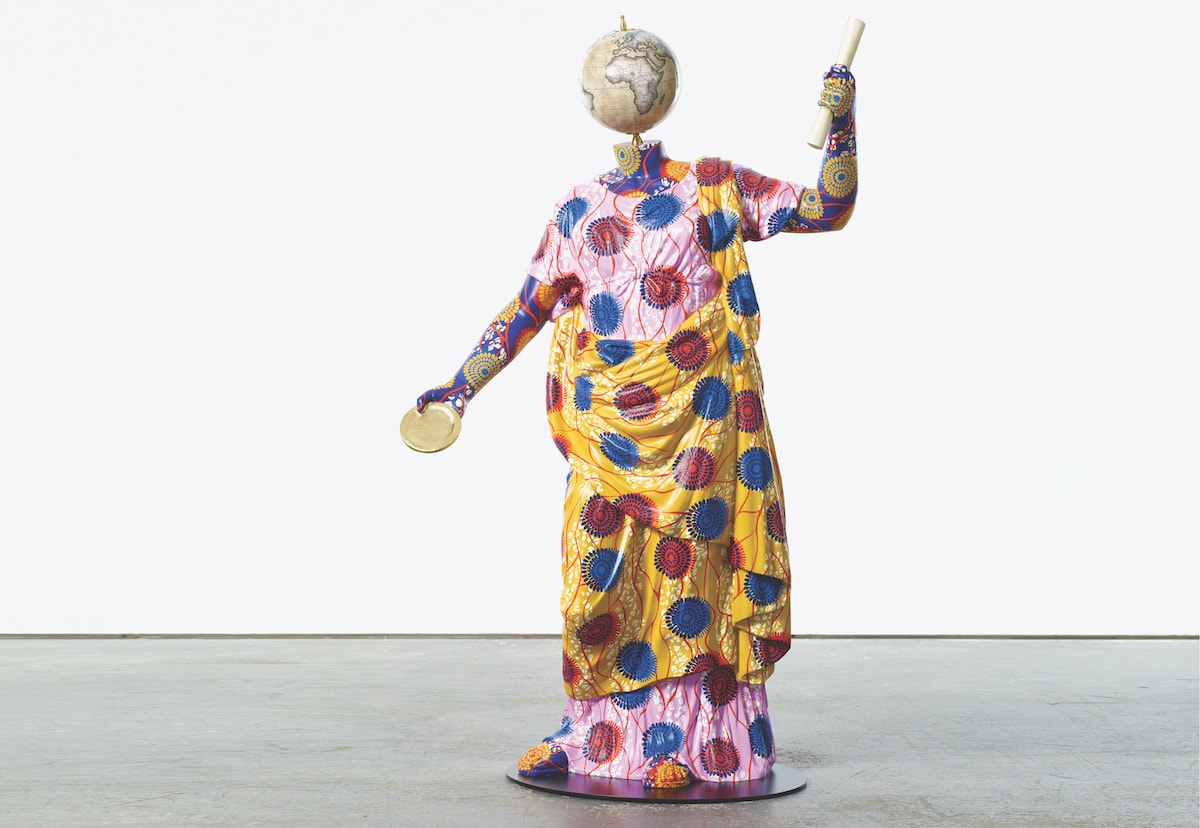Yinka Shonibare CBE Clementia, 2018, Fibreglass sculpture, hand-painted with Batik pattern and steel base plate
