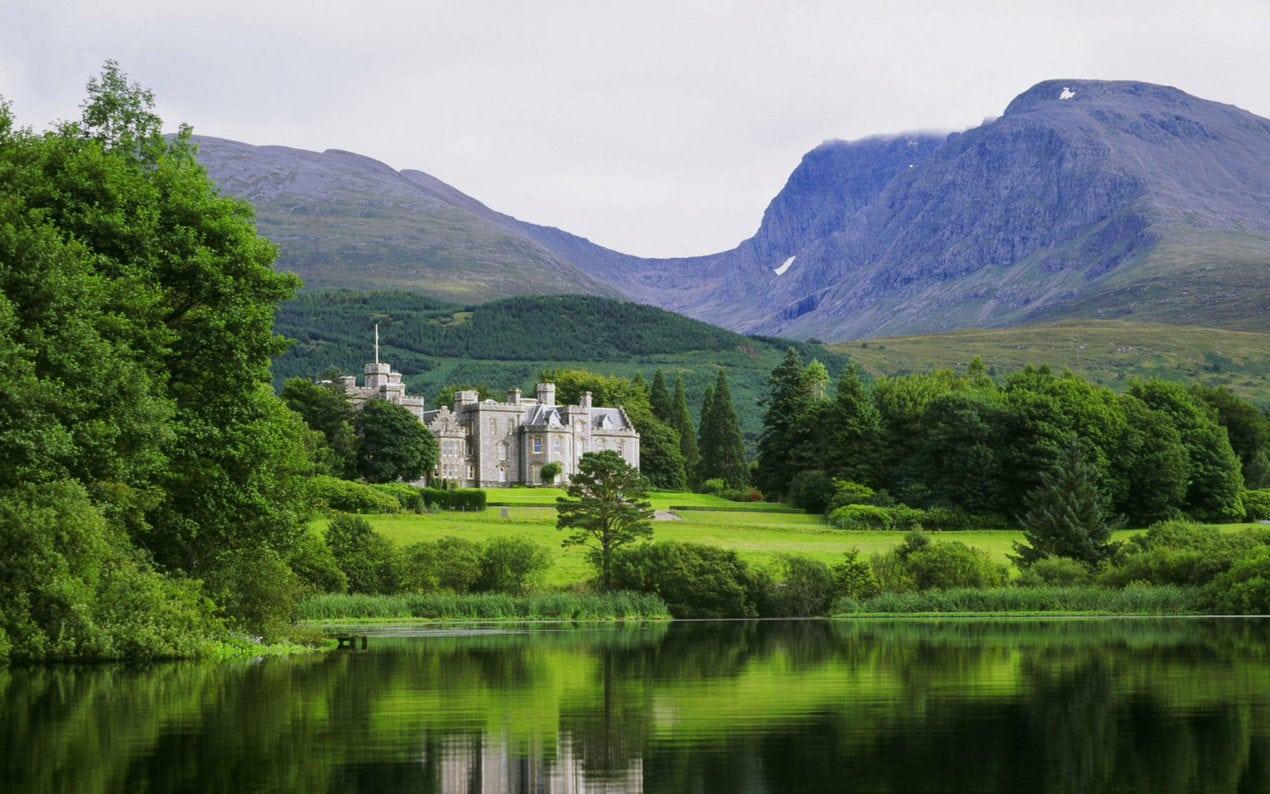 Inverlochy Castle hotel at Fort William Scotland