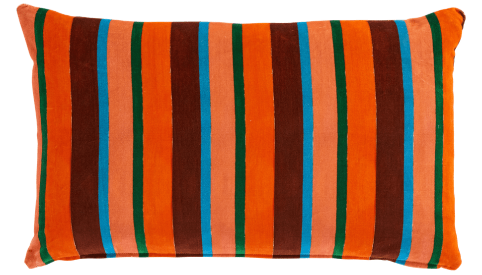 Luke Edward Hall Vagabond stripe cushion
