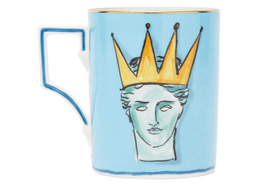 Richard Ginori X Luke Edward Hall Neptune porcelain mug