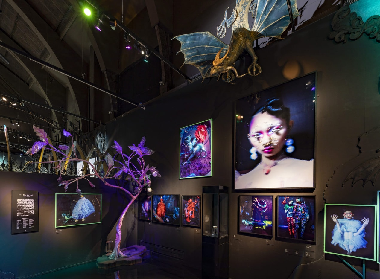 VA Tim Walker Wonderful Things Exhibition Installation View Lil Dragon Section 2 c Victoria and Albert Museum London