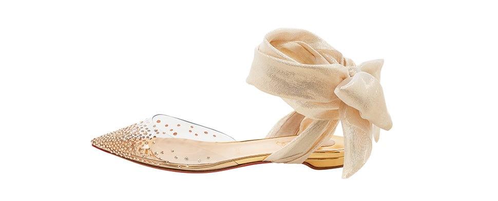 Christian Louboutin Miragirl Gold Flat Shoe
