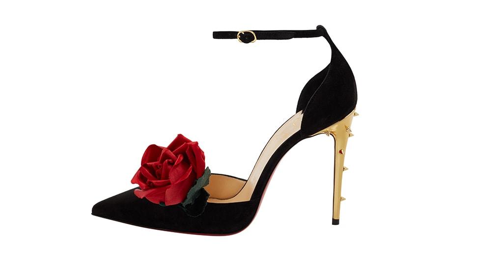 Christian Louboutin Sleeping Rose Black Pump