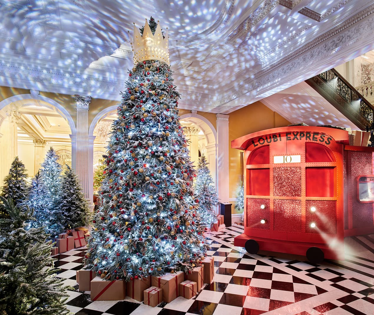 Claridge's Christmas Tree 2019 by Christian Louboutin