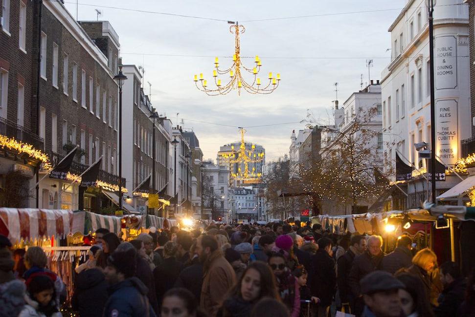 Christmas market on Elizabeth Street in Belgravia