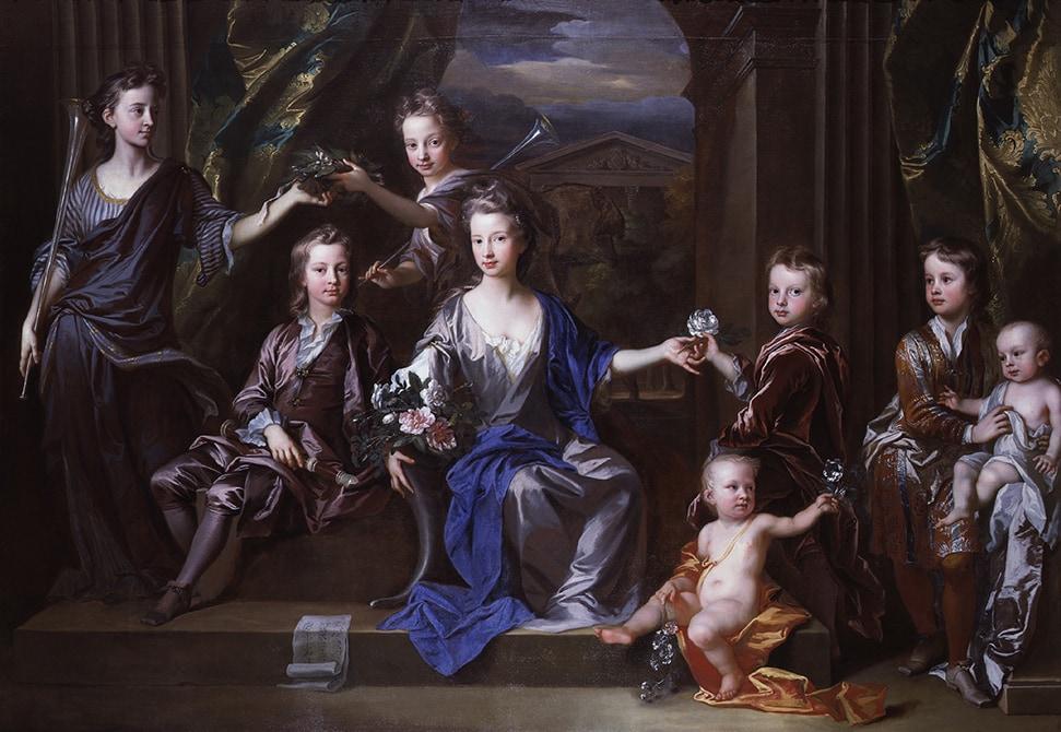 John Closterman, The Children of John Taylor of Bifrons Park 1696 National Portrait Gallery