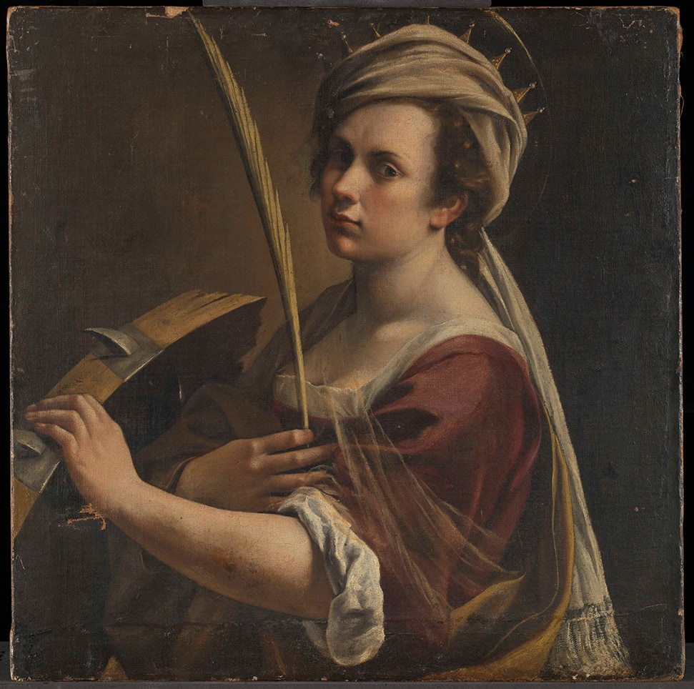Artemisia Gentileschi (1593 – 1654 or later) Self Portrait as Saint Catherine of Alexandria