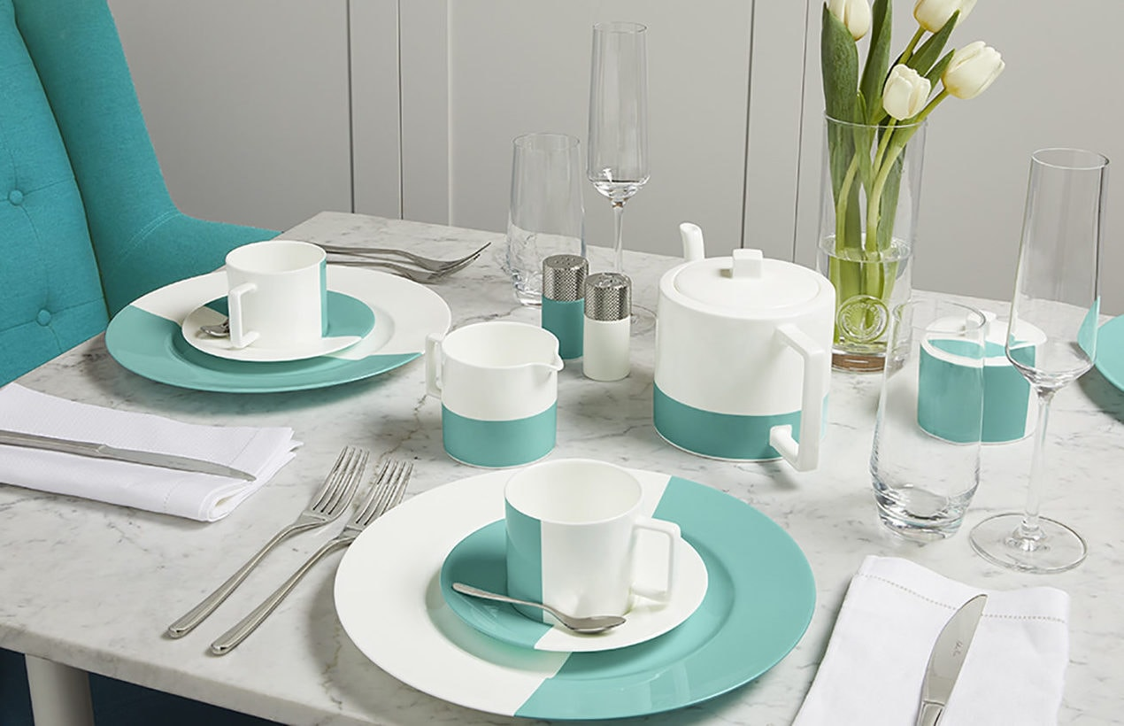 Tiffany Blue Box Cafe breakfast table setting Photographed by The Studio on 10th January 2020