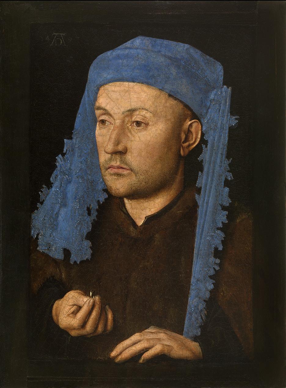 Jan van Eyck's Man in a Blue Cap (c.1430)