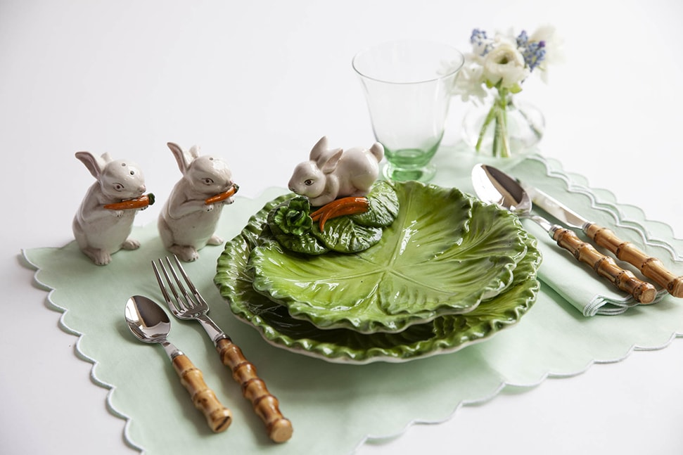 Alice Naylor Leyland's Easter plates and cutlery