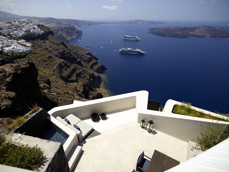 Vora Santorini panoramic Credit Photography by Vangelis Paterakis Styling by Anestis Mihalis