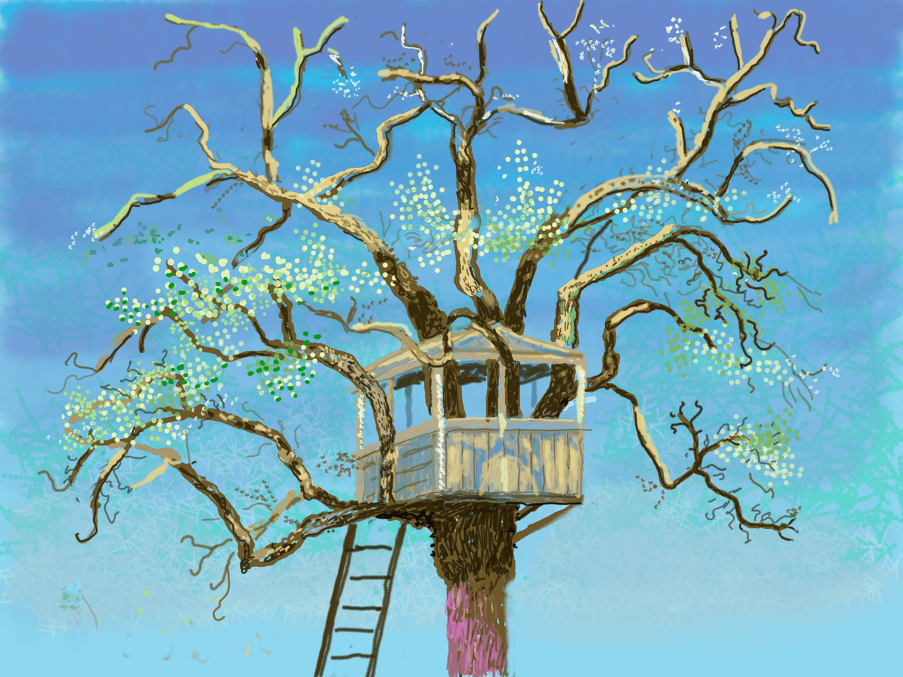 David Hockney's new iPad drawings are a joyful reminder of spring 111488590 painting0125 nc