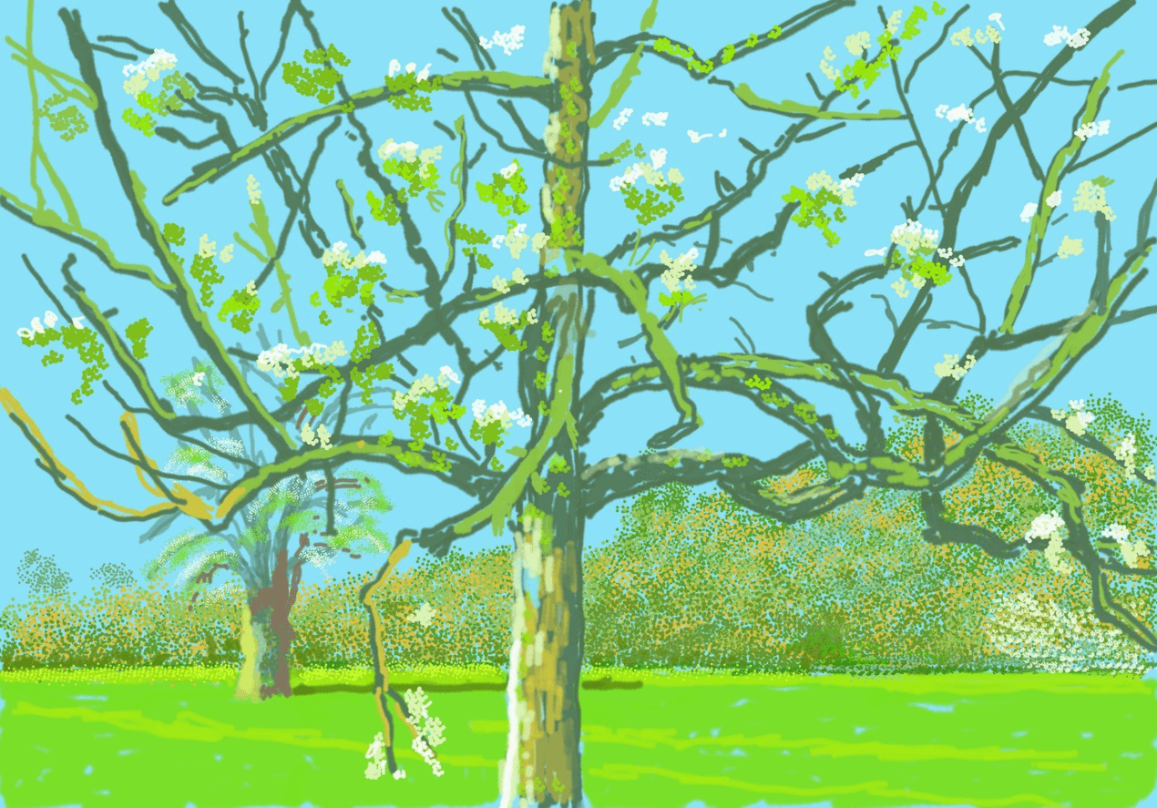 David Hockney's new iPad drawings are a joyful reminder of spring 111488598 painting0140 nc