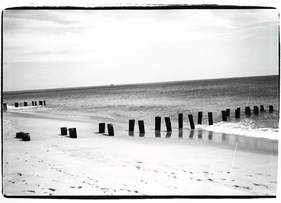 A photograph of the seashore taken by Warhol