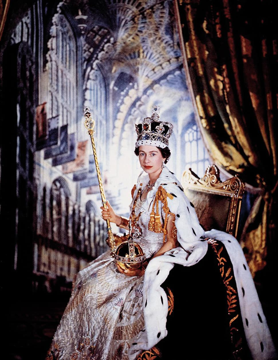 Queen Elizabeth II, photographed by Cecil Beaton in 1953, England