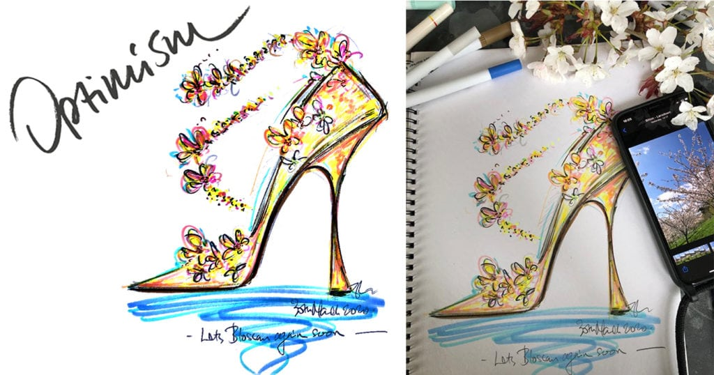 Jimmy Choo launches a new sketching initiative with all proceeds going to charity